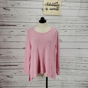 Chelsea & Theodore pink long sleeve sweater L Xl